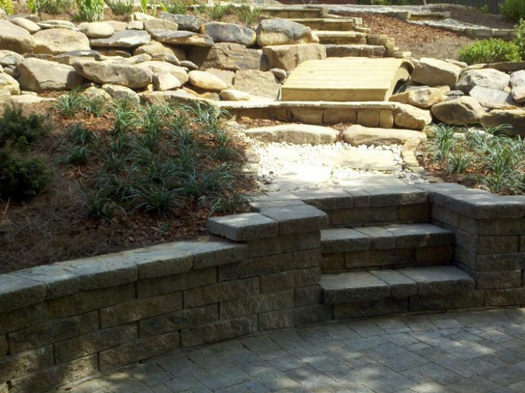 Kate Davidson Landscape Architecture Garden Design : Landscape design installation davidson hardscapes